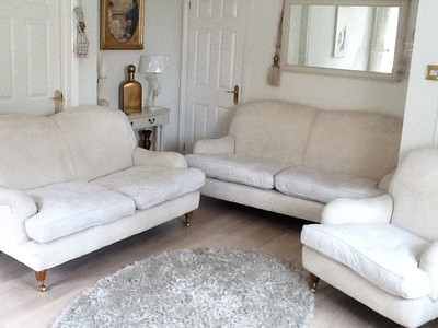 Laura Ashley Richmond 3 2 Seater Sofa And Chair Cream Ashino Fabric